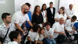 PILI ACOMPAÑADA DEL RESTO DE GANADORES