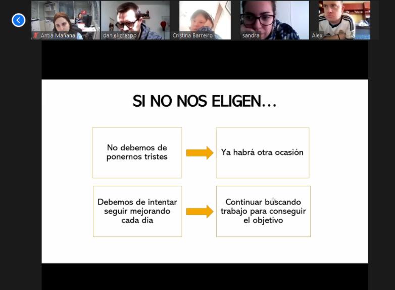 Antía y Paloma, de Nortempo, han impartido formación sobre selección de personal a personas usuarias de nuestro plan de empleo